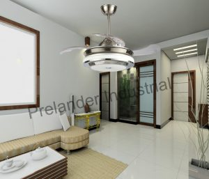 42inch-decorative-ceiling-fan-lighting-led-acrylic-blades-invisible-ceiling-fan