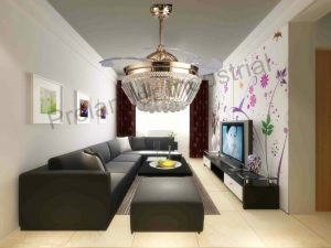 42inch-luxury-crystal-invisible-ceiling-fan-remote-control-living-dining-rooms