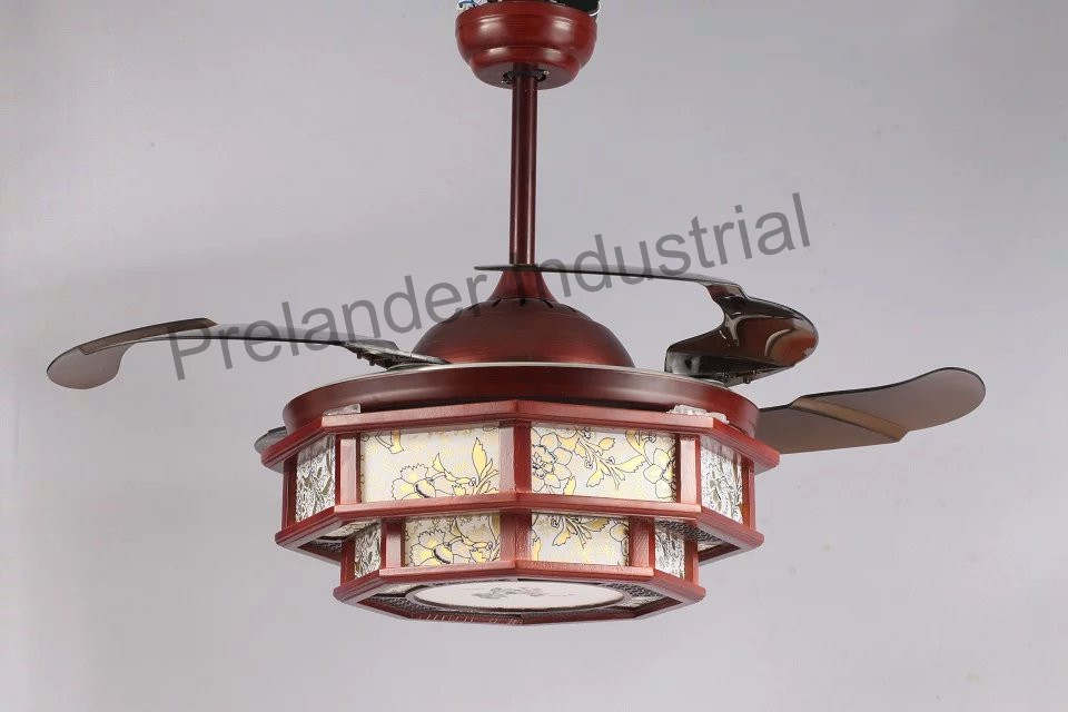 Hidden Ceiling Fan : Chinese art ceiling fan hidden blades