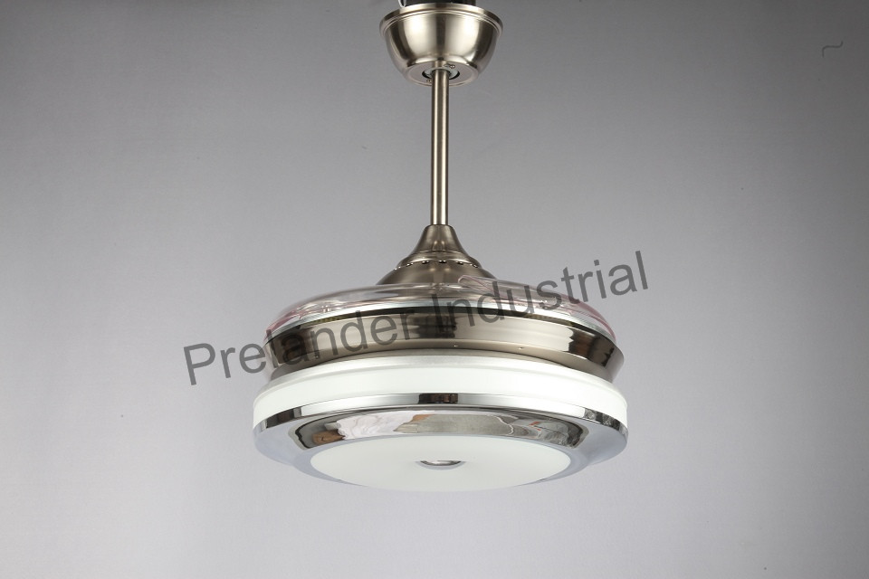 ceiling fan lighting light led acrylic blades invisible ceiling fan. Black Bedroom Furniture Sets. Home Design Ideas